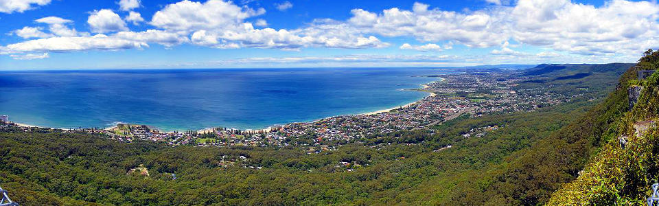 Illawarra, Looking South over Wollongong and beyond