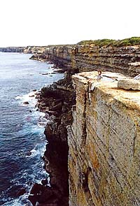 Currarong, the cliffs of the peninsular, South Coast, NSW
