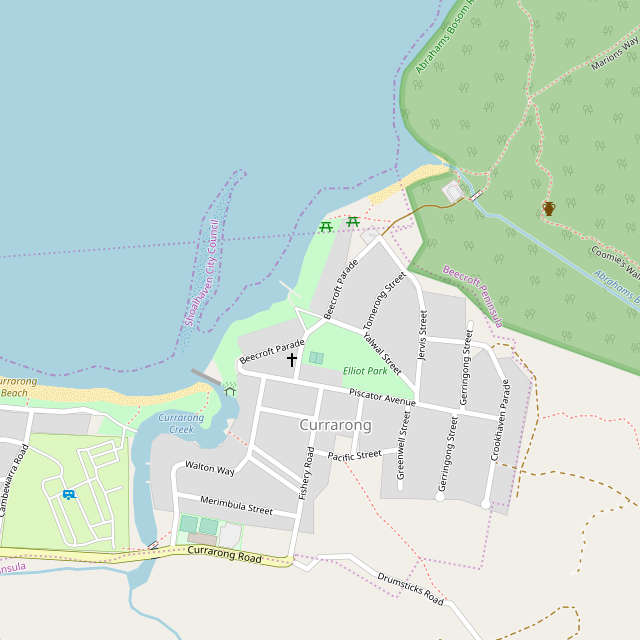 map of currarong