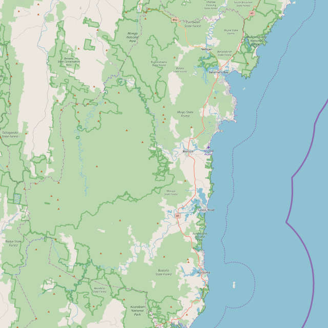 map of eurobodalla
