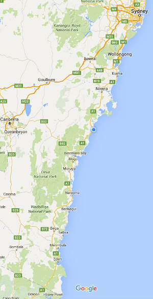 Map Of South Coast Nsw Map Nsw South Coast | compressportnederland