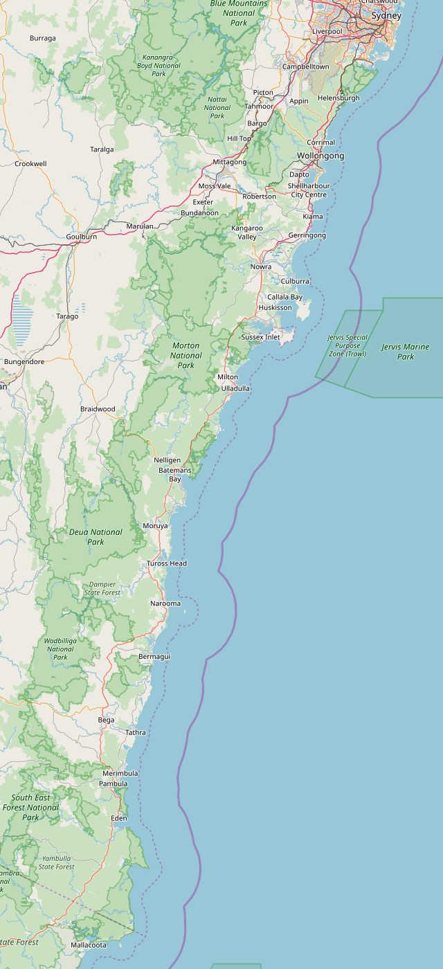 Australia Map Jervis Bay.Maps South Coast Nsw