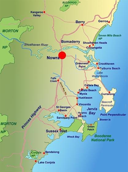 Australia Map Jervis Bay.Jervis Bay Region Map